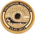 Olympic Collectibles:Autographs, 2014 Sochi Winter Olympics Meteorite-Embedded Gold Medal....