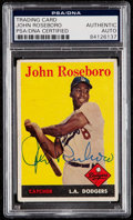 Autographs:Sports Cards, Signed 1958 Topps John Roseboro #42 PSA/DNA Authentic. ...