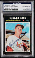 Autographs:Sports Cards, Signed 1971 Topps Red Schoendienst #239 PSA/DNA Authentic. ...