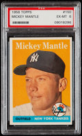 Baseball Cards:Singles (1950-1959), 1958 Topps Mickey Mantle #150 PSA EX-MT 6....
