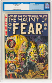 Haunt of Fear #17 Gaines File Pedigree (EC, 1953) CGC NM+ 9.6 Off-white to white pages