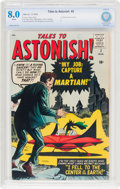 Silver Age (1956-1969):Science Fiction, Tales to Astonish #2 (Marvel, 1959) CBCS VF 8.0 White pages....