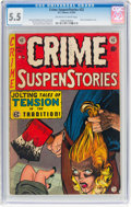 Golden Age (1938-1955):Crime, Crime SuspenStories #22 (EC, 1954) CGC FN- 5.5 Off-white to white pages....