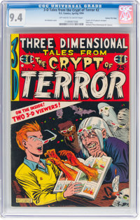Three Dimensional Tales from the Crypt of Terror #2 Gaines File Pedigree (EC, 1954) CGC NM 9.4 Off-white to white pages...