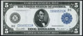 Fr. 855a $5 1914 Federal Reserve Note About New