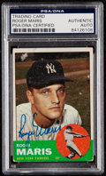 Autographs:Sports Cards, Signed 1963 Topps Roger Maris #120 PSA/DNA Authentic....