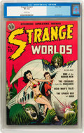 Golden Age (1938-1955):Science Fiction, Strange Worlds #1 (Avon, 1950) CGC VF+ 8.5 Off-white pages....