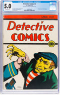 Platinum Age (1897-1937):Miscellaneous, Detective Comics #2 (DC, 1937) CGC VG/FN 5.0 Off-white pages....