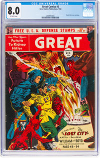 Great Comics #3 (Great Comics Publications, 1942) CGC VF 8.0 Off-white pages
