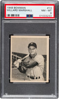 Baseball Cards:Singles (1940-1949), 1948 Bowman Willard Marshall (Short Print) #13 PSA NM-MT 8. ...