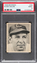 Baseball Cards:Singles (1940-1949), 1948 Bowman Augie Galan #39 PSA Mint 9 - Only One Higher. ...