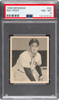 Baseball Cards:Singles (1940-1949), 1948 Bowman Ray Poat #42 PSA NM-MT 8....