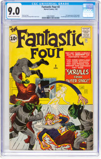 Fantastic Four #2 (Marvel, 1962) CGC VF/NM 9.0 Cream to off-white pages