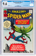 Silver Age (1956-1969):Superhero, The Amazing Spider-Man #7 (Marvel, 1963) CGC NM+ 9.6 Off-white to white pages....