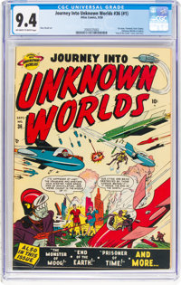 Journey Into Unknown Worlds #36 (#1) (Atlas, 1950) CGC NM 9.4 Off-white to white pages