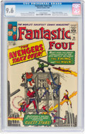 Silver Age (1956-1969):Superhero, Fantastic Four #26 (Marvel, 1964) CGC NM+ 9.6 Off-white to white pages....