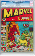 Golden Age (1938-1955):Superhero, Marvel Mystery Comics #7 (Timely, 1940) CGC VF+ 8.5 Off-white pages....