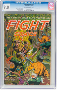 Fight Comics #31 (Fiction House, 1944) CGC VF/NM 9.0 Off-white to white pages