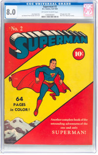 Superman #2 (DC, 1939) CGC VF 8.0 Off-white to white pages