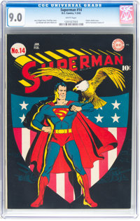 Superman #14 (DC, 1942) CGC VF/NM 9.0 White pages