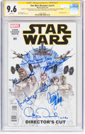 Modern Age (1980-Present):Science Fiction, Star Wars #1 Director's Cut Signature Series (Marvel, 2015) CGC NM+9.6 White pages....