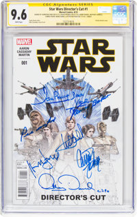 Star Wars #1 Director's Cut Signature Series (Marvel, 2015) CGC NM+ 9.6 White pages