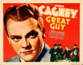 "Movie Posters:Crime, Great Guy (Grand National, 1936). Rolled, Fine/Very Fine. HalfSheet (22"" X 28"").. ..."