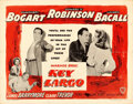 "Movie Posters:Film Noir, Key Largo (Warner Brothers, 1948). Folded, Very Fine-. Half Sheet(22"" X 28"") Style A.. ..."