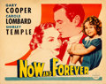 """Movie Posters:Drama, Now and Forever (Paramount, 1934). Very Fine- on Paper. Half Sheet(22"""" X 28"""") Style B.. ..."""
