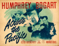 """Movie Posters:War, Across the Pacific (Warner Brothers, 1942). Folded, Fine. Half Sheet (22"""" X 28"""") Style A.. ..."""