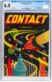 Contact Comics #12 (Aviation Press, 1946) CGC FN 6.0 Off-white to white pages