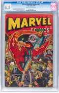 Golden Age (1938-1955):Superhero, Marvel Mystery Comics #60 (Timely, 1944) CGC FN+ 6.5 Cream to off-white pages....