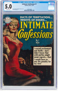 Golden Age (1938-1955):Romance, Intimate Confessions #1 (Realistic Comics, 1951) CGC VG/FN 5.0 Off-white pages....