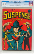 "Golden Age (1938-1955):Miscellaneous, Suspense Comics #7 Davis Crippen (""D"" Copy) Pedigree (Continental Magazines, 1944) CGC VF+ 8.5 Off-white to white pages...."