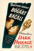 "Movie Posters:Film Noir, Dark Passage (Warner Brothers, 1947). Fine+ on Linen. One Sheet(27"" X 41"").. ..."