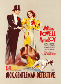 "After the Thin Man (MGM, 1937). Fine+ on Linen. Trimmed Pre-War Belgian (15.5"" X 21"") Alternate Title: Nick, G..."