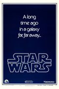 """Movie Posters:Science Fiction, Star Wars (20th Century Fox, 1977). Very Fine on Linen. One Sheet (27"""" X 41"""") Style B Teaser.. ..."""