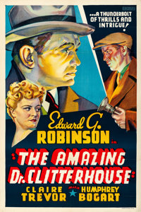 """The Amazing Dr. Clitterhouse (Warner Brothers, 1938). Very Fine- on Paper. Other Company One Sheet (27"""" X 41"""")..."""