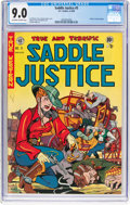Golden Age (1938-1955):Western, Saddle Justice #5 (EC, 1949) CGC VF/NM 9.0 Off-white to white pages....