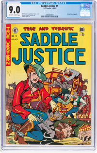Saddle Justice #5 (EC, 1949) CGC VF/NM 9.0 Off-white to white pages