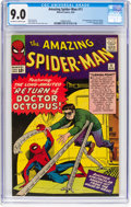 Silver Age (1956-1969):Superhero, The Amazing Spider-Man #11 (Marvel, 1964) CGC VF/NM 9.0 Off-whiteto white pages....