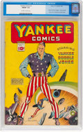 Golden Age (1938-1955):Superhero, Yankee Comics #1 (Chesler, 1941) CGC FN/VF 7.0 Off-white to white pages....