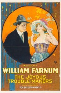 """The Joyous Trouble-Makers (Fox, 1920). Good- on Linen. One Sheet (27"""" X 40.5"""")"""