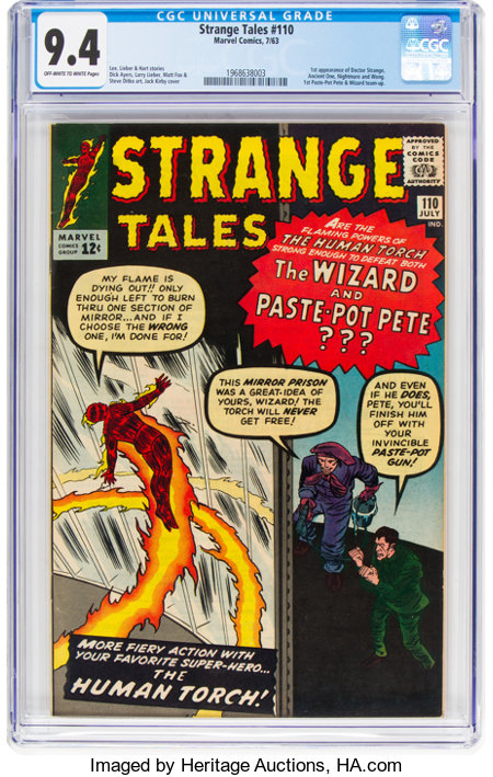 Strange Tales #110 (Marvel, 1963) CGC NM 9.4 Off-white to white pages....