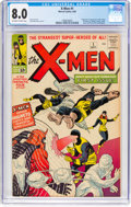 Silver Age (1956-1969):Superhero, X-Men #1 (Marvel, 1963) CGC VF 8.0 Off-white to white pages....