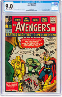 The Avengers #1 (Marvel, 1963) CGC VF/NM 9.0 Off-white to white pages