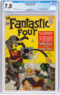 Silver Age (1956-1969):Superhero, Fantastic Four #2 (Marvel, 1962) CGC FN/VF 7.0 Off-white pages....