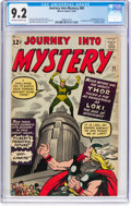 Silver Age (1956-1969):Superhero, Journey Into Mystery #85 (Marvel, 1962) CGC NM- 9.2 Off-white to white pages....