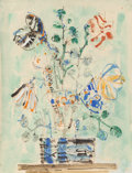 Works on Paper, Paul Aizpiri (French, 1919). Untitled. Watercolor on paper. 25-1/4 x 19-1/4 inches (64.1 x 48.9 cm). Signed lower right:...