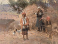 Fine Art - Painting, American, Mian Situ (Chinese/American, b. 1953). Yi Family Going to theLocal Market. Oil on canvas. 30 x 40 inches (76.2 x 101.6 ...